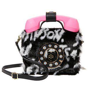 Betsey Johnson Fur Phone Bag NEW Working Phone!!!